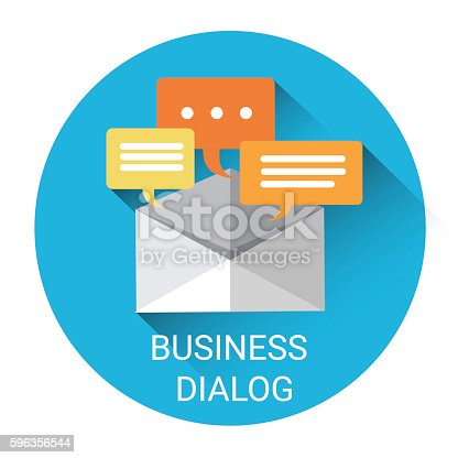 Dialog Mail Communication Business Icon Stock Vector Art & More Images of Business 596356544