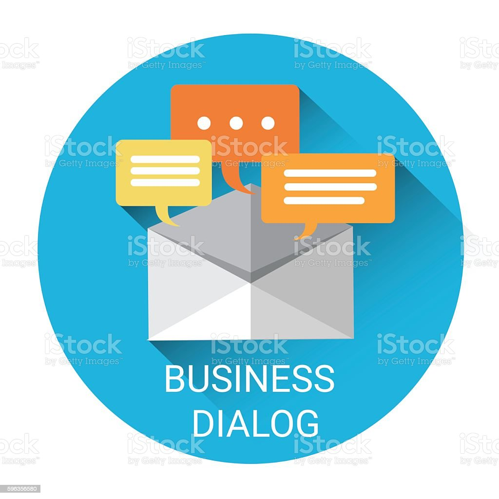 Dialog Mail Communication Business Icon royalty-free dialog mail communication business icon stock vector art & more images of business