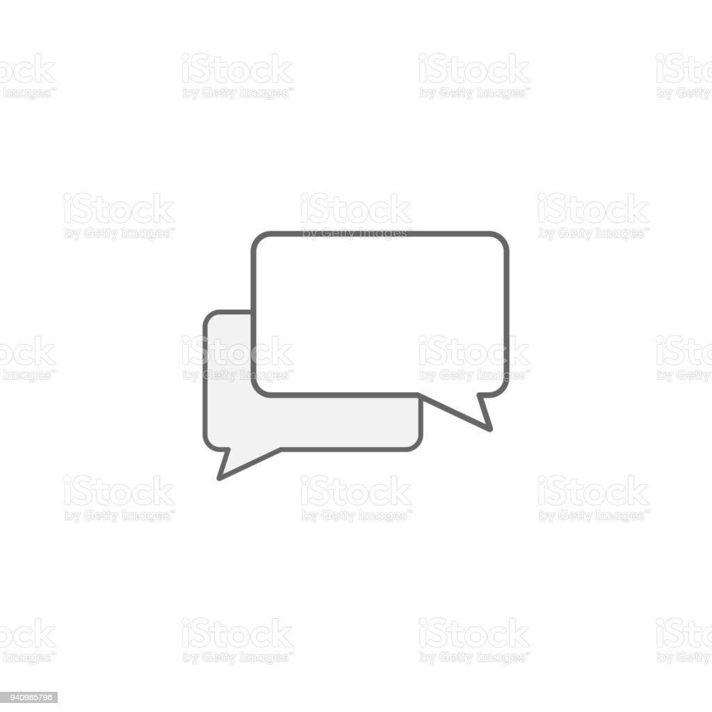 Bolha de diálogo. Balões de bate-papo. Ícone do Messenger. Vector - ilustração de arte em vetor