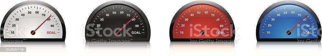 dials goal royalty-free stock vector art