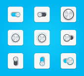 Vector dials icons