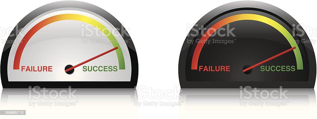 dials success royalty-free stock vector art
