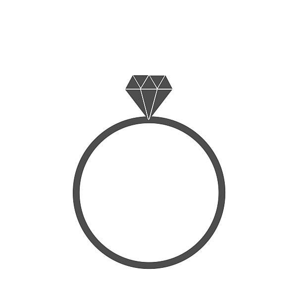 diamon ring icon - clipart goldene hochzeit stock-grafiken, -clipart, -cartoons und -symbole