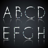 Diamond alphabet letters