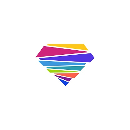 Diamond Colorful Vector Template Design Illustration