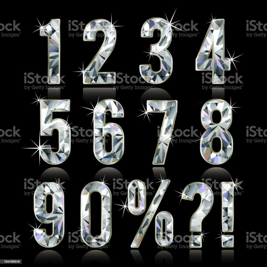Diamond digits royalty-free stock vector art