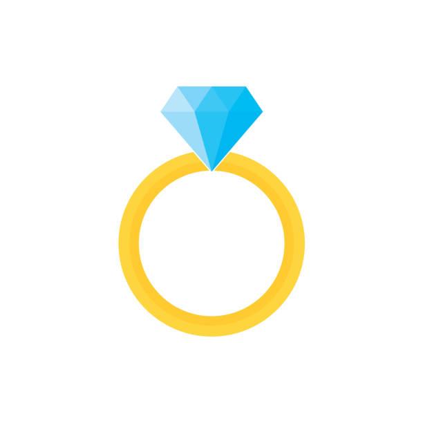 ダイヤモンドの指輪 イラスト素材 Istock