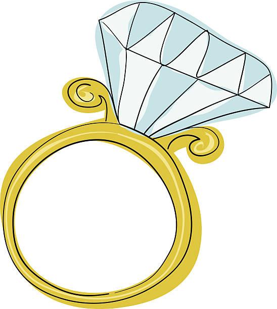 ダイヤモンド婚約指輪 - 婚約点のイラスト素材/クリップアート素材/マンガ素材/アイコン素材