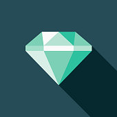 Diamond Flat Design Crime & Punishment Icon
