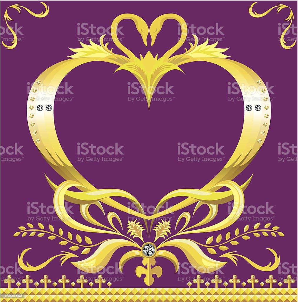 diamond golden wedding frame royalty-free stock vector art