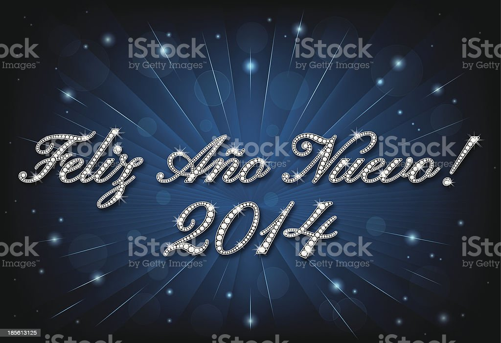Diamond Feliz Año Nuevo 2014 royalty-free stock vector art
