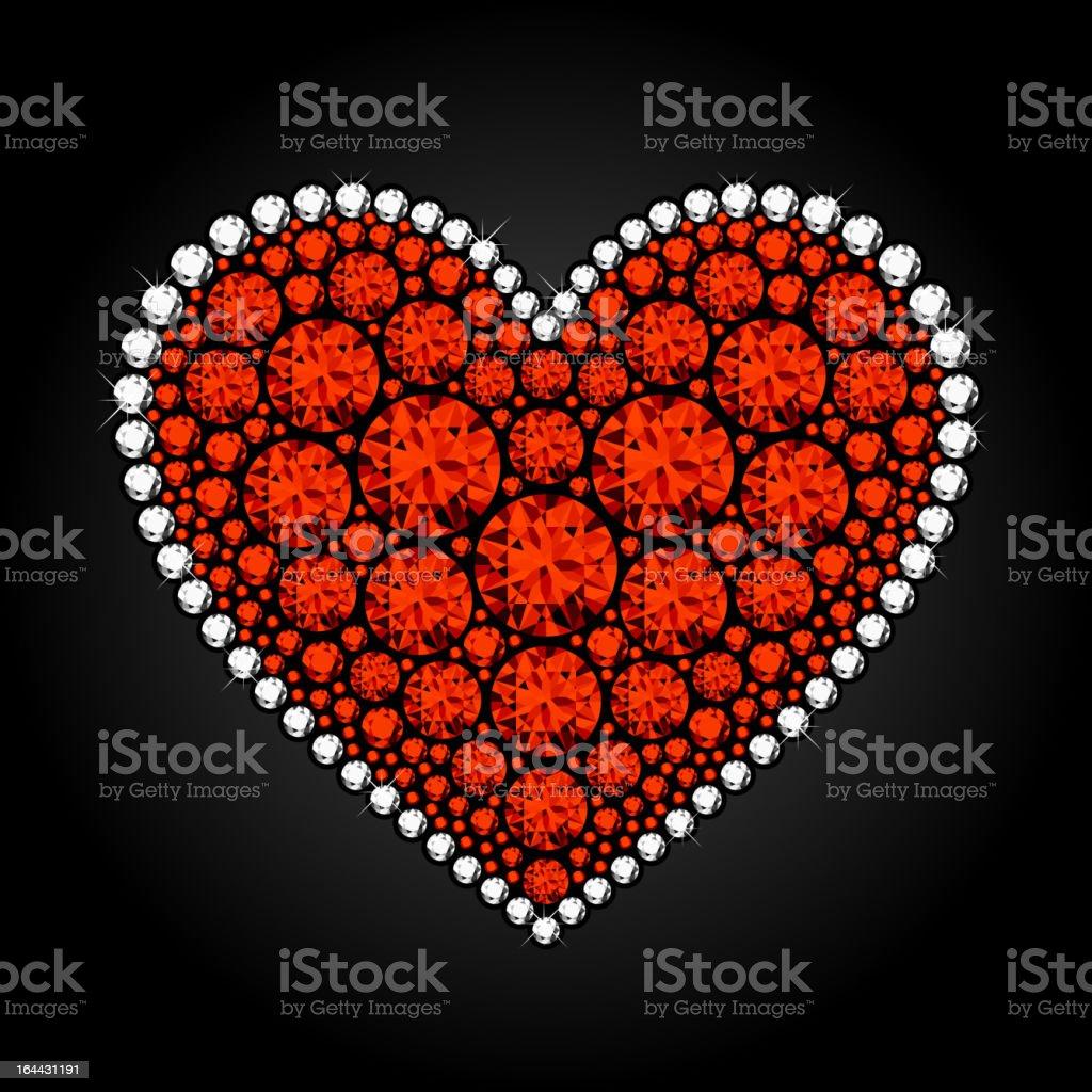 Diamond heart royalty-free diamond heart stock vector art & more images of bling bling