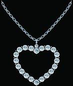 Shiny diamond heart in vector format.
