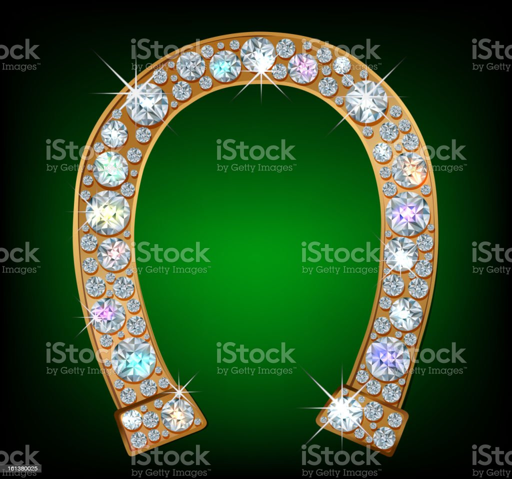 Diamond horseshoe royalty-free diamond horseshoe stock vector art & more images of abstract