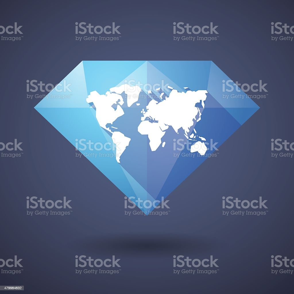 Diamond icon with a world map stock vector art more images of 2015 diamond icon with a world map royalty free diamond icon with a world map stock gumiabroncs Image collections