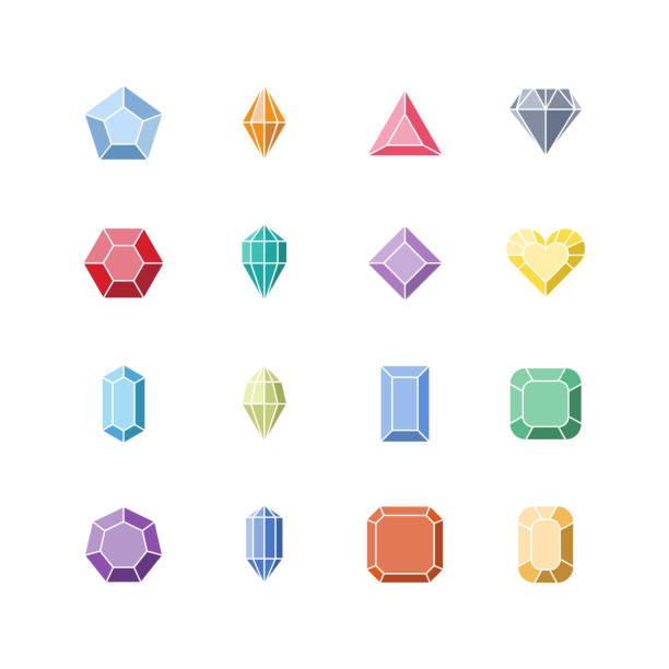 illustrations, cliparts, dessins animés et icônes de icône de diamant, symbole de la pierre précieuse - joaillerie