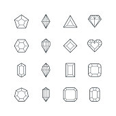 Diamond icon,gemstone symbol,vector illustration. EPS 10.