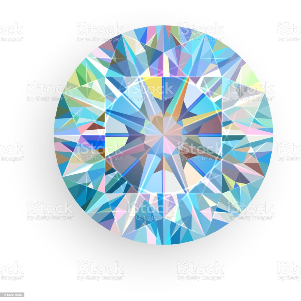Diamond isolated on white background. Vector vector art illustration