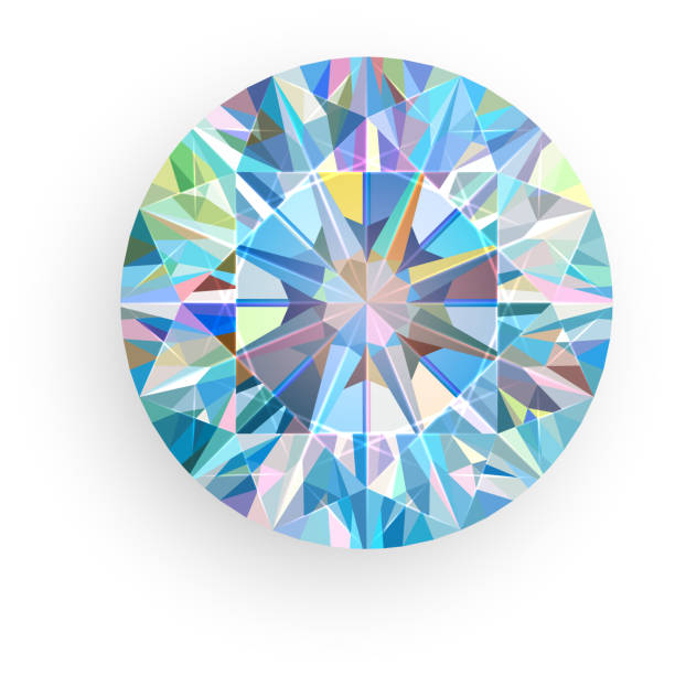 diamond isolated on white background. vector - gemstone stock illustrations, clip art, cartoons, & icons