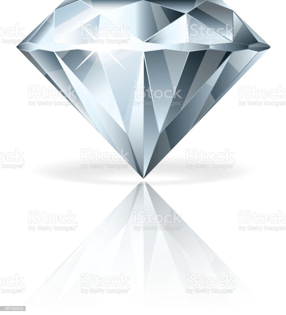 Diamond isolated on white vector illustration vector art illustration