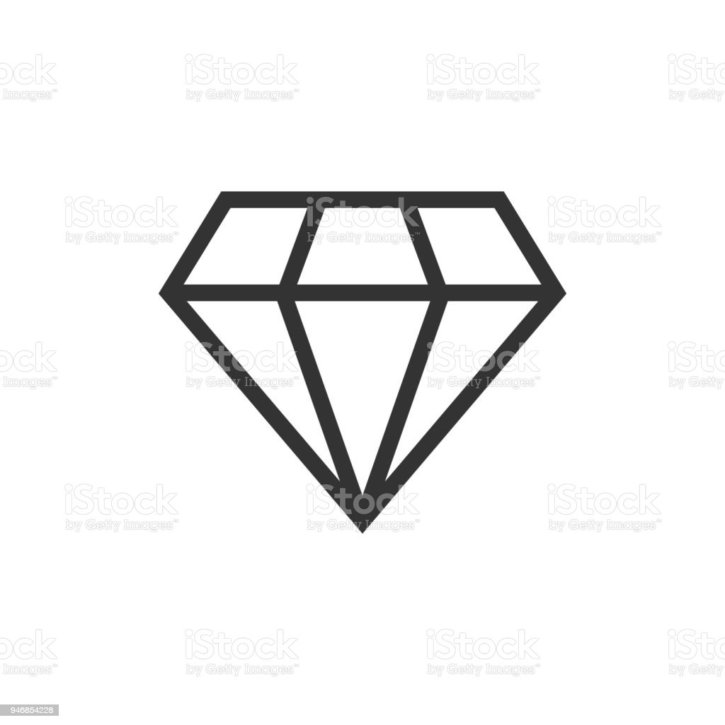 Diamond Juwel Juwel Vektor Icon Im Flachen Stil Diamant Edelstein ...