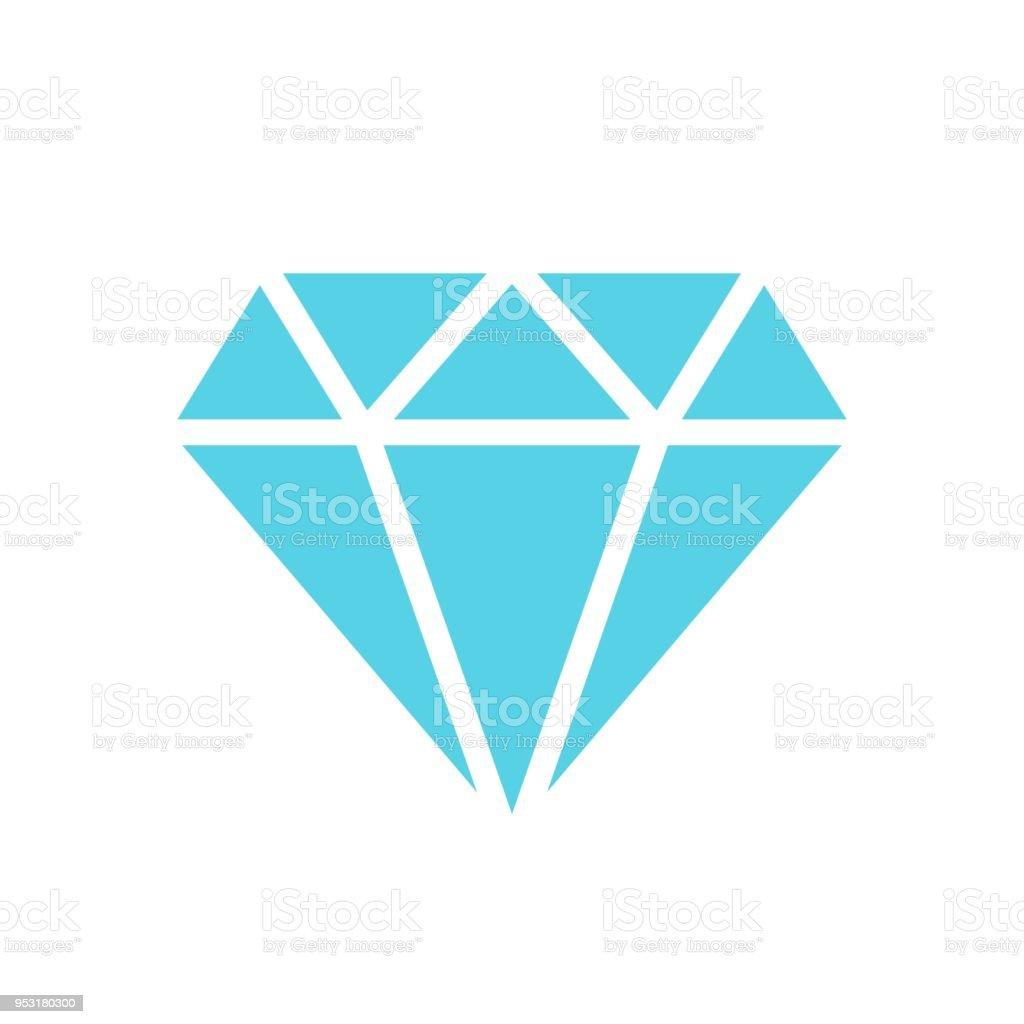 ダイヤモンド宝石宝石ベクトル アイコンをフラット スタイル孤立した白地