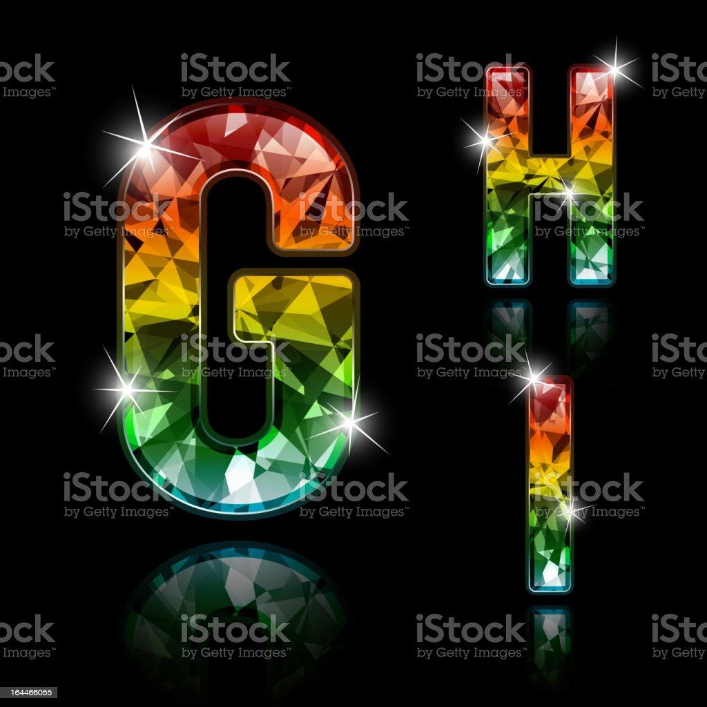 Diamond letters royalty-free stock vector art