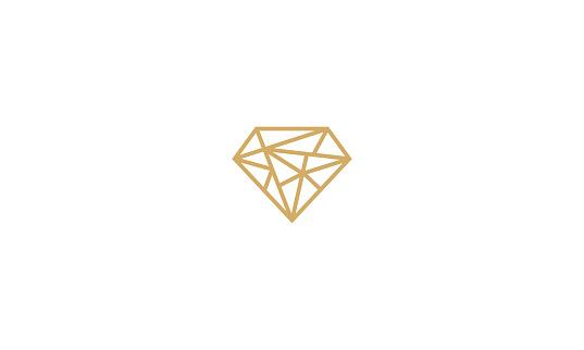 diamond line art vector icon