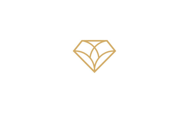 diamond line art vector icon For your stock vector needs. My vector is very neat and easy to edit. to edit you can download .eps. diamond stock illustrations