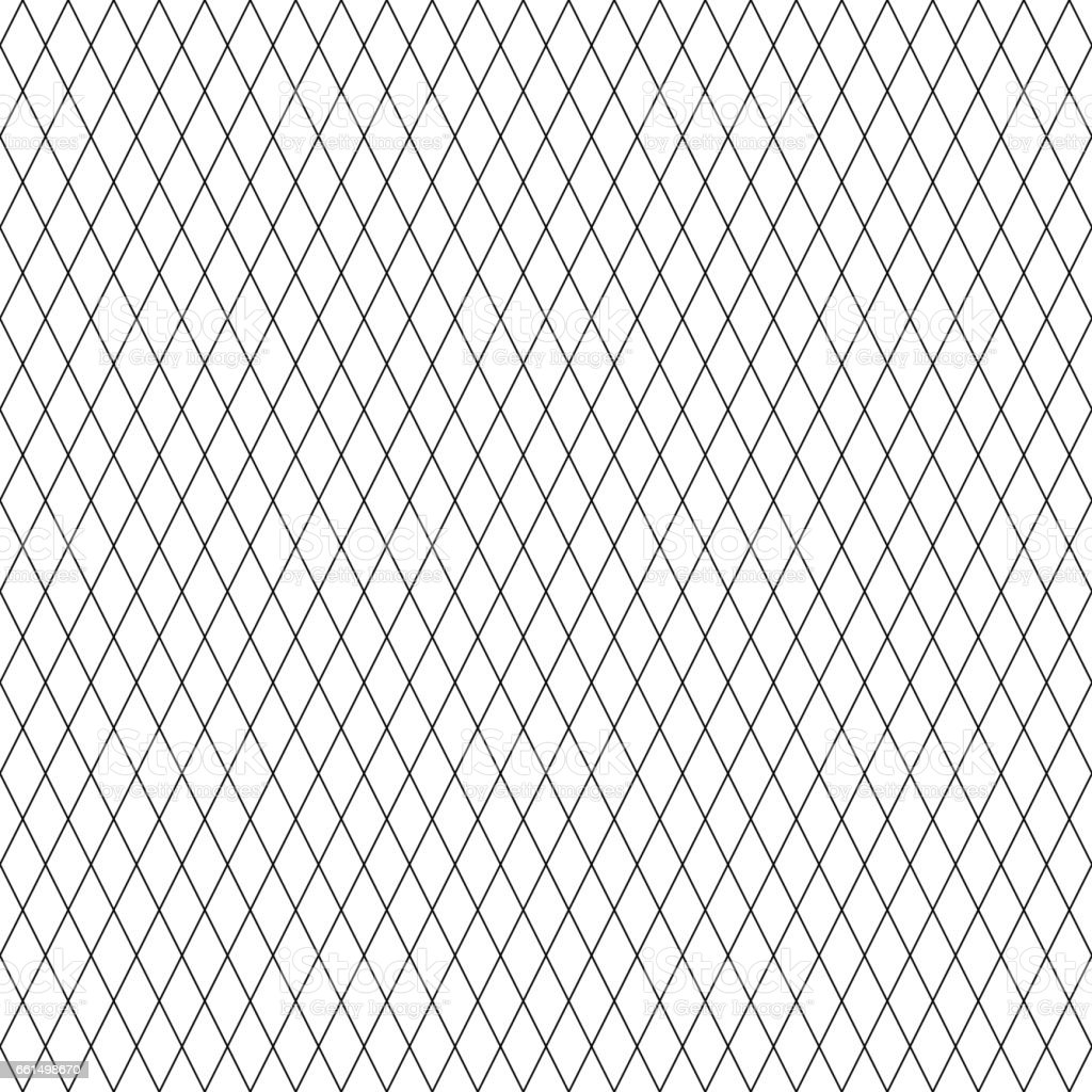 Diamond line pattern seamless black and white colors. Line abstract background vector. vector art illustration