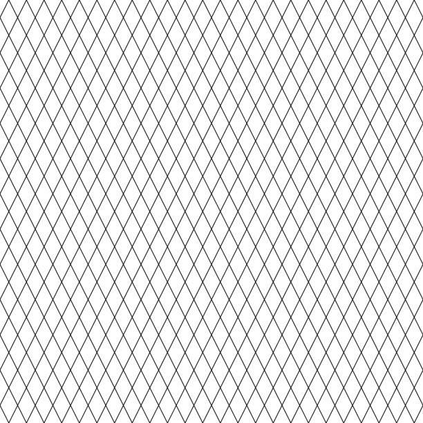 stockillustraties, clipart, cartoons en iconen met diamond line patroon naadloze zwarte en witte kleuren. lijn abstracte achtergrond vector. - gaas
