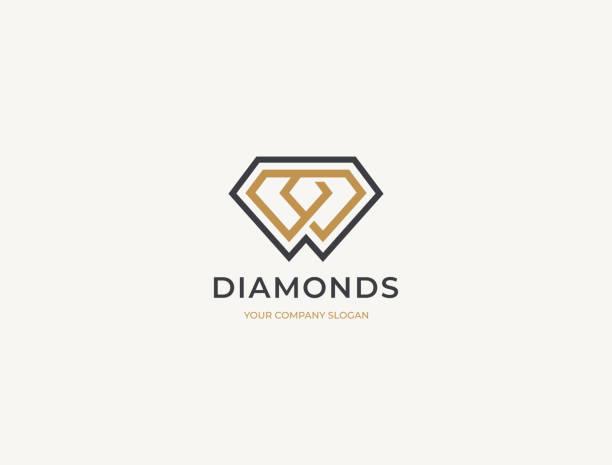 Diamond Logotype Concept Diamond Logotype Concept diamond shaped stock illustrations