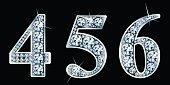Diamond numbers set 4,5,6. Vector Eps10