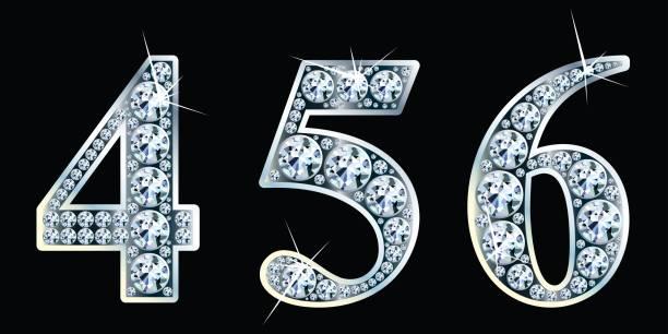 Diamant-Nummern festlegen 4,5,6. Vektor Eps10 – Vektorgrafik