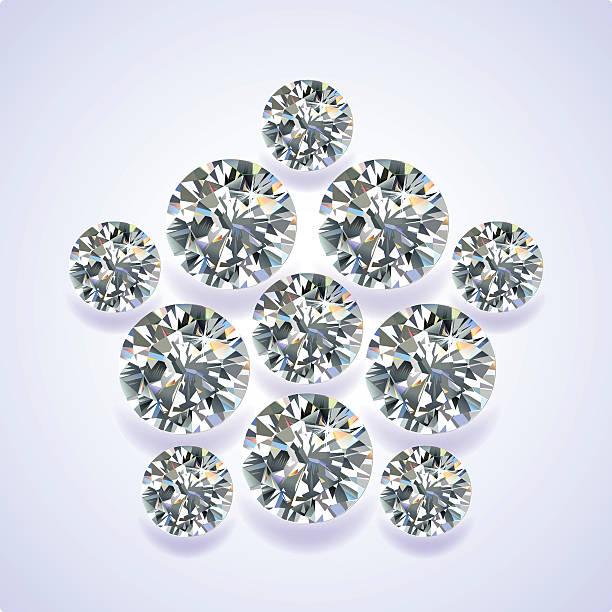 diamant pentagon brosche - modeschmuck stock-grafiken, -clipart, -cartoons und -symbole
