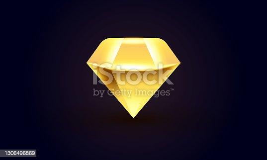 Diamond premium icon.stock illustration