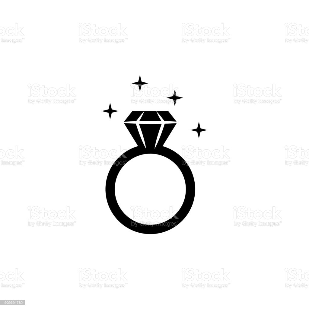 Diamond Ring Icon Love Or Couple Element Icon Premium Quality