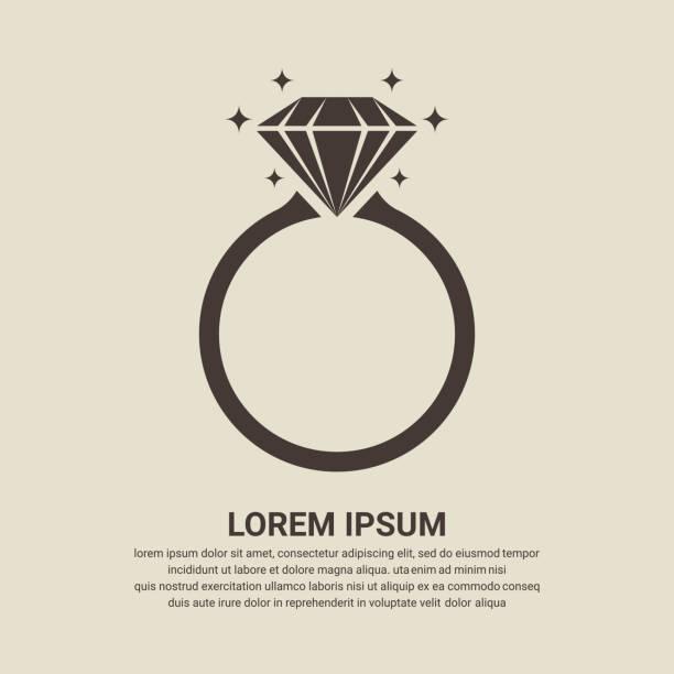 "diamant-ring ""icon"" - trauring stock-grafiken, -clipart, -cartoons und -symbole"
