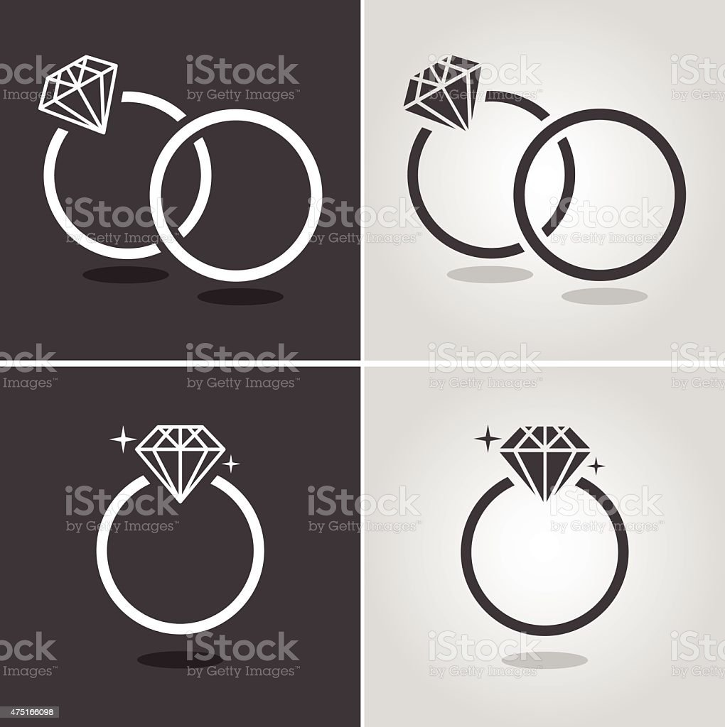 Diamond Ring Symbol vector art illustration