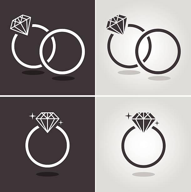 ダイヤモンドリングコード - 婚約点のイラスト素材/クリップアート素材/マンガ素材/アイコン素材
