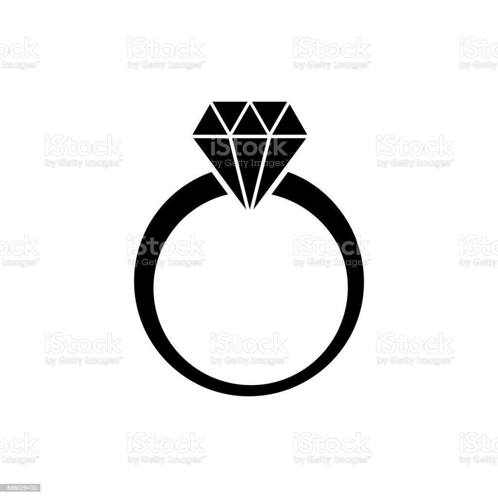 diamond ring vector vector art illustration