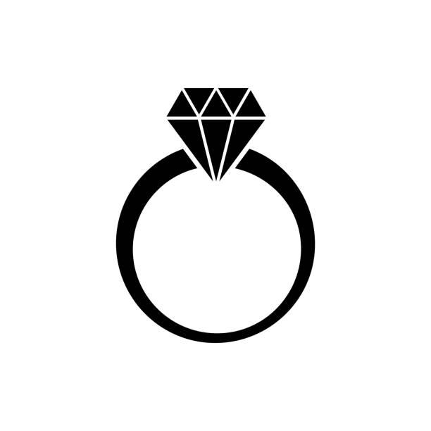 ベクター ダイヤモンド リング - 婚約点のイラスト素材/クリップアート素材/マンガ素材/アイコン素材