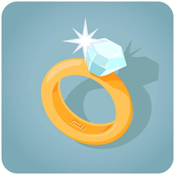 diamant-ring mit glitzereffekt - trauring stock-grafiken, -clipart, -cartoons und -symbole