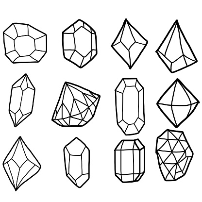 Diamond set. vector