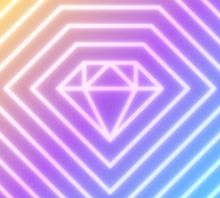 Diamond Shape Abstract Line Background