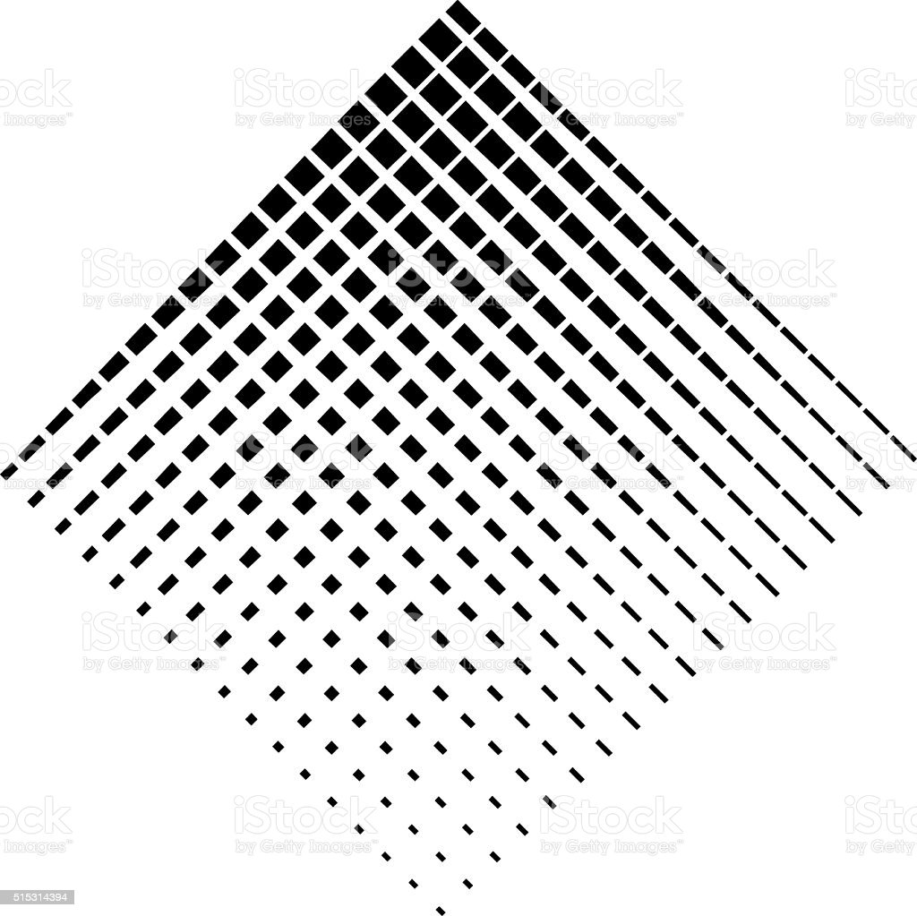 Diamond Shape Halftone Pattern vector art illustration