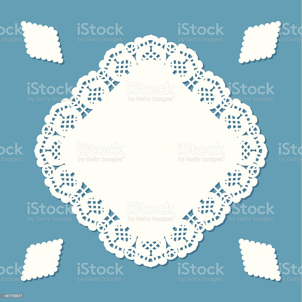 Diamond shaped doily royalty-free diamond shaped doily stock vector art & more images of antique