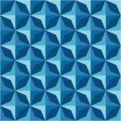 Diamond shaped geometric pattern