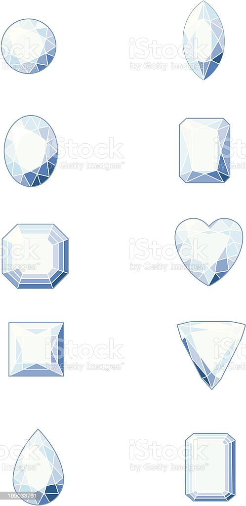 Diamond shapes royalty-free stock vector art