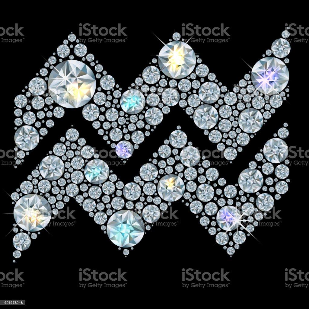 Diamond sign of the zodiac Aquarius diamond sign of the zodiac aquarius – cliparts vectoriels et plus d'images de art libre de droits